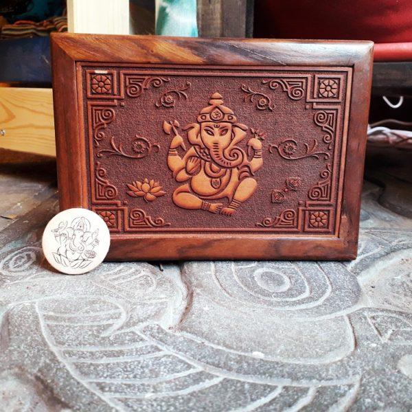 portagioie in legno ganesh
