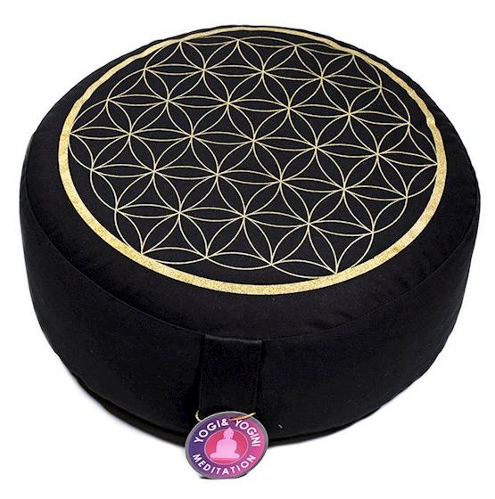 cuscino da meditazione round fiore della vita